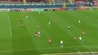 Vladimir Weiss scores in the match Malta vs Slovakia