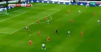 Kevin Mirallas scores in the match Russia vs Belgium