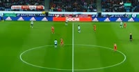 Aleksey Miranchuk scores in the match Russia vs Belgium