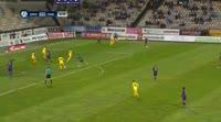 Dare Vrsic scores in the match Maribor vs Radomlje