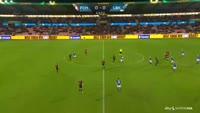 Jeppe Kjaer scores in the match Midtjylland vs Lyngby