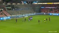 Jakob Poulsen scores in the match Midtjylland vs Lyngby