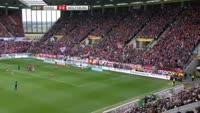 Mario Gomez scores in the match Mainz vs Wolfsburg
