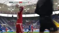 Almog Cohen scores in the match Hoffenheim vs Ingolstadt