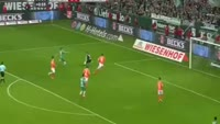 Max Kruse scores in the match Werder Bremen vs Darmstadt