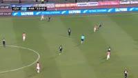 Guelor Kanga scores in the match Crvena zvezda vs Partizan