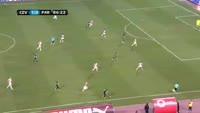 Uros Djurdjevic scores in the match Crvena zvezda vs Partizan