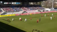 Luca Zuffi scores in the match Vaduz vs Basel