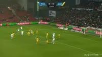 Federico Santander scores in the match FC Copenhagen vs Horsens
