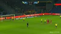 Emiliano Marcondes scores in the match Brondby vs Nordsjaelland