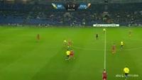 Teemu Pukki scores in the match Brondby vs Nordsjaelland