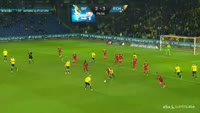 Gregor Sikosek receives a red card in the match Brondby vs Nordsjaelland