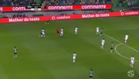 Alan Ruiz scores in the match Sporting Lisbon vs Guimaraes