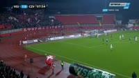 Darko Puskaric scores in the match Vojvodina vs Crvena zvezda