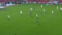 Richmond Boakye scores in the match Vojvodina vs Crvena zvezda