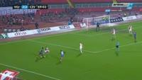Darko Puskaric scores own goal in the match Vojvodina vs Crvena zvezda