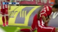 Jacques-Alaixys Romao scores in the match Olympiakos Piraeus vs Platanias FC