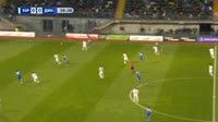 Denys Garmash scores in the match Zorya vs Dynamo Kiev