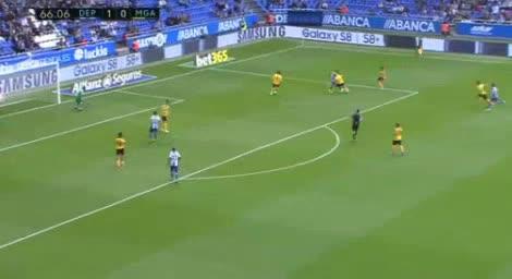 Deportivo La Coruna Malaga goals and highlights