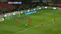 Enes Unal scores in the match Twente vs Nijmegen