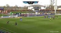 Kian Hansen scores in the match Lyngby vs Midtjylland