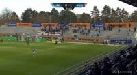 Kian Hansen scores own goal in the match Lyngby vs Midtjylland
