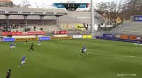 Mikkel Duelund scores in the match Lyngby vs Midtjylland