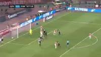 Leandre Tawamba scores in the match Crvena zvezda vs Partizan