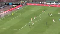 Leonardo da Silva Souza scores in the match Crvena zvezda vs Partizan