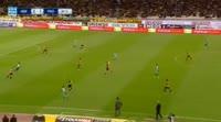 Marcus Berg scores in the match AEK vs Panathinaikos