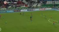 Fedor Chalov scores in the match Ufa vs CSKA Moscow
