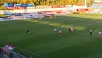 Amr Warda scores in the match Platanias FC vs PAOK