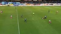 Yevgeniy Shakhov scores in the match Platanias FC vs PAOK
