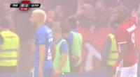 Fernando Karanga scores in the match Levski vs CSKA-Sofia