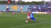 Roman Prochazka receives a red card in the match Levski vs CSKA-Sofia