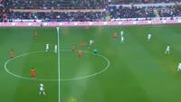 Emmanuel Adebayor scores in the match Basaksehir vs Besiktas