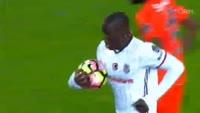 Demba Ba scores in the match Basaksehir vs Besiktas