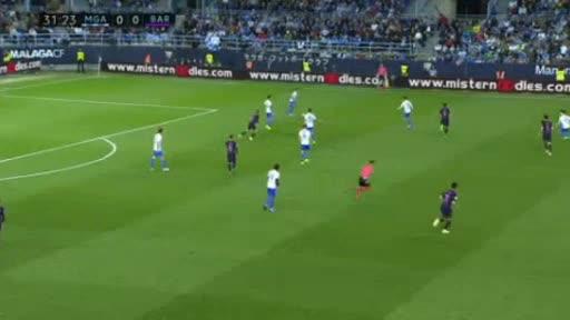 Malaga Barcelona goals and highlights