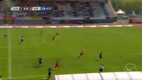 Egzijan Alioski scores in the match Lugano vs Sion