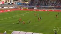 Armando Sadiku scores in the match Lugano vs Sion