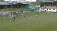 Marius Pena scores in the match Concordia vs Poli Timisoara