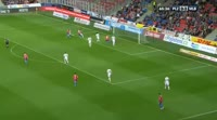 Michael Krmencik scores in the match Plzen vs Mlada Boleslav