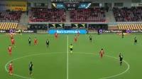 Ernest Asante scores in the match Nordsjaelland vs Sonderjyske