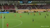Emiliano Marcondes scores in the match Nordsjaelland vs Sonderjyske