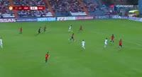Callum Hudson-Odoi scores in the match Spain U17 vs England U17