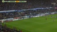 Kader Mangane scores in the match Strasbourg vs Bourg Peronnas
