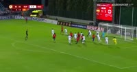 Ignacio Diaz Barragan scores in the match Spain U17 vs England U17