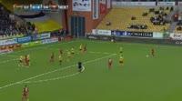 Jamie Hopcutt scores in the match Elfsborg vs Ostersunds
