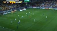 Igor Stasevich scores in the match BATE vs Din. Minsk