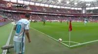 Aleksandr Kokorin scores in the match Lokomotiv Moscow vs Zenit Petersburg